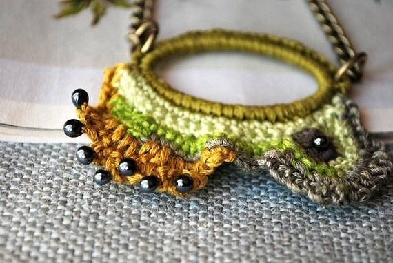 Fiber Crochet Necklace