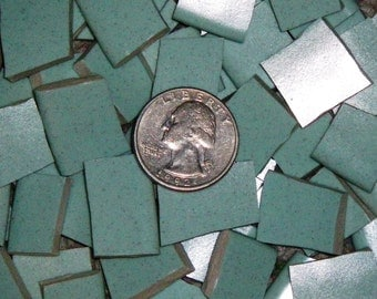 Mosaic Tiles - 80 SOLID Mosaic Plate Tiles, Sea Mist GREEN / Pale Turquoise, Handcut - FREE Shipping - ALLBellaJewels
