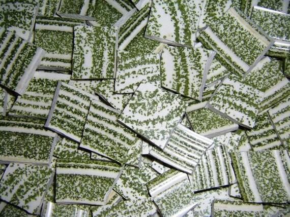 100 GREEN Mosaic Plate Tiles, EL VERDE Pattern, ALLBellaJewels