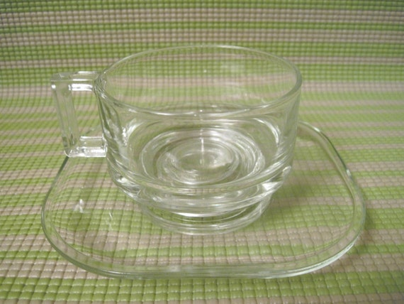 Set Of 5 Italian Clear Glass Soup Bowls With 2 By Kitschkitch