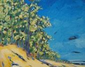 Reflections of Lake Michigan Print- from Lake Michigan original oil painting by artist Christi Dreese