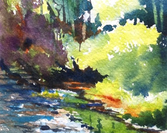 Caesar Creek Print of my Original Water Color