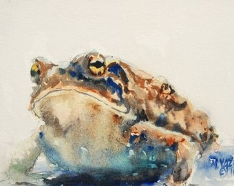 Garden Toad Print of my Original Water Color