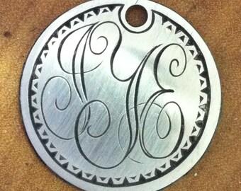 Monogram Pendant from Repurposed Buffalo Nickel