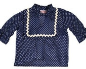 blue voile girls top