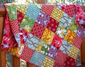 FREE U.S SHIPPING Colorful Deer Valley HANDMADE Baby Toddler Throw Quilt
