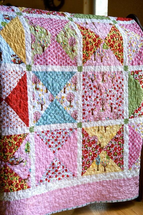 Quilt Children's Hoo and Friends Handmade Throw Quilt