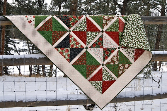 Quilt Christmas Nature's Gift HANDMADE Throw Lap Quilt