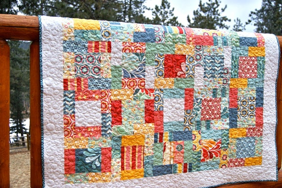 Quilt Baby Toddler Salt Air Fabrics HANDMADE