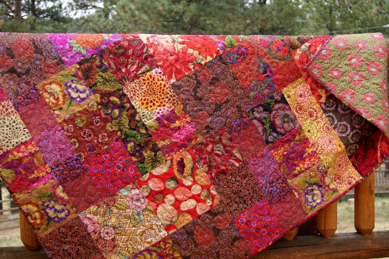 Fall Fiesta Lap Or Throw Quilt Kaffe Fassett Fabrics