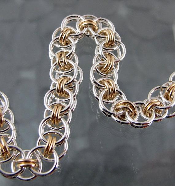 Bracelet: Silver, Gold Filled Wire