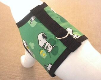 Snoopy Saint Patrick's Day Shamrock Harness Vest