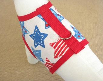 Patriotic Stars Dog Harness Vest