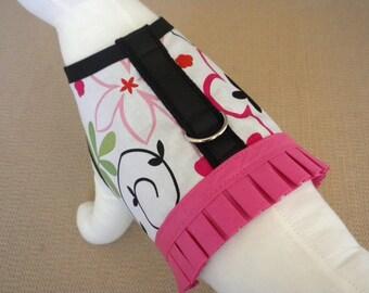 Floral Swirl Dog Harness Vest
