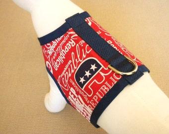 Republican Patriotic Dog Pet Harness Vest