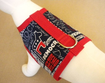 Democrat Patriotic Dog Pet Harness Vest