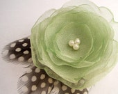 SAGE N' GUINEA Flower Clip, Handmade by The Headband Shoppe