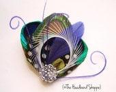 Custom Order - 3 Atlantis Minis and 1 Petit Paon on a black headband