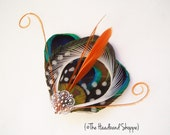 ATLANTIS MINI  - Fantastical Peacock Feather Fascinator Hairclip - Made to Order