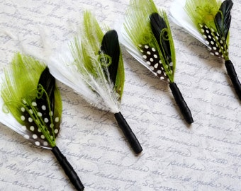 Reserved - set of 5 boutonniere