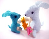 Eco Friendly Felt Mommy and Baby Bunny