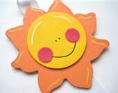 LAST ONE Smiley Sun Hair Bow and Clip Holder