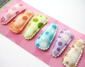 PARTIAL SET Mini Bubble Dots Snap Clips (Set of 4) - 1 1/4 inch snap clips - Great for Fine Baby Hair