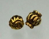 100 pcs of antique gold Bali style spacer beads - 5.6x5.4mm