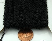 SALE Sale 12ft of Black little cable chain 3x2mm - unsoldered Links