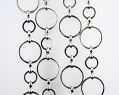 5 ft. of Sterling Silver Plated Brass BIG circle Quick Links Chain - 30mm,15mm soldered link