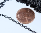 SALE Sale 32 ft of Black Finished Cable Chain - 3.9x2.8mm 0.7mm Unsoldered Link