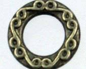 20 pcs of Antique Gold Finished fancy jumpring Link 10mm round - Soldered Link 1.8mm thickness