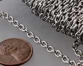 Stainless Steel chain bulk, 3 ft of Surgical Stainless Steel Cable chain - 4.1x3.2mm Unsoldered Link