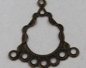 10 pcs of Antique Brass finished filigree drop dangle earring - 29x26mm