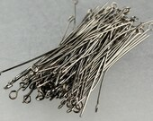 100 pcs of Gunmetal Plated Eyepin Headpin - 21G - 2 inch