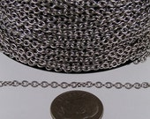 30 feet Stainless Steel Small Cable Chain SOLDERED Small Cable Chain - 3x2.2mm SOLDERED - Bulk Chain Necklace Wholesale DIY Jewelry Chain