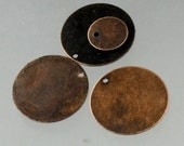 50 pcs of Antique Copper Finished Coin drop dangle 19mm