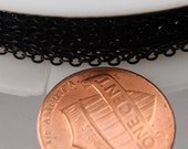 10 ft spool of BLACK Finished brass little Oval Flat Soldered Cable Chain 2.4x1.7mm