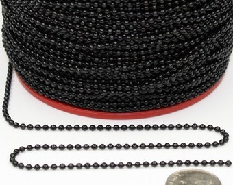 32 ft. spool of black ball chain - 2.0mm ball size