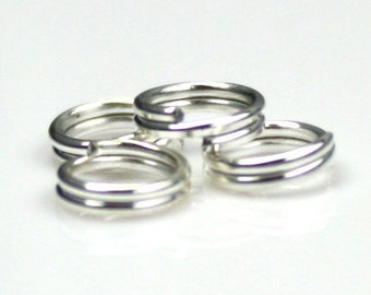 1 ounce (about 470 pcs) of Silver finished split rings - 5mm