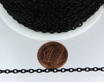 32 ft of Black finished cable Chain - 3.8x2.7mm unsoldered link