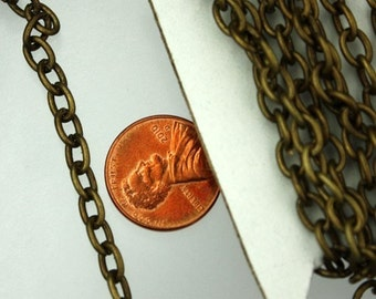 10ft. Antique Brass Heavy Cable Chain - 7.5x6mm