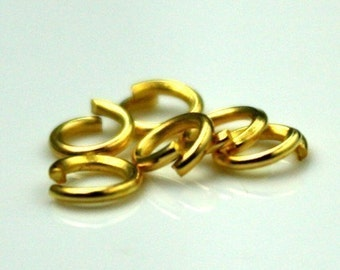 6mm Jump Rings, 200 Gold Plated Jump Rings Open 6x0.7mm 21 Gauge 21G Bulk Jumprings Jump Rings Link Connector Open Jump Rings O Ring