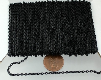 SALE Sale 50ft. Black Flat Cable Chains - 3x2.2mm unsoldered