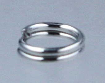 200 pcs of Antique Silver Finished Split Rings - 5mm