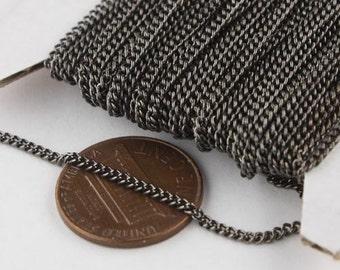 32 ft Gunmetal Solder Curb Chain - 1.6mm SOLDERED Link