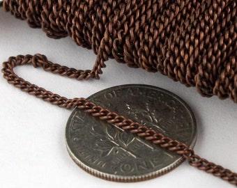 100 ft Antique Copper Solder Curb Chain - 1.6mm SOLDERED Link