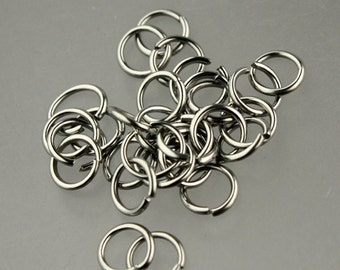100 pcs STAINLESS Steel Jump Rings - 6mm 20Gauge 20G 0.8mm - Link Surgical Jumprings Necklace Bracelet Wholesale Jump Rings Bulk Jumprings