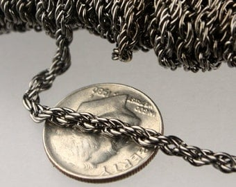 32 ft of Gunmetal Finished Fashion Rope Chain - 3.9x3.0mm Link - Chain Thickness 2.7mm