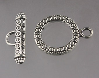 20 sets of Antique Silver Patten Sturdy Toggle Clasps